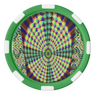 粘土のポーカー用のチップの輝きのチャクラの車輪の無限 ポーカーチップセット