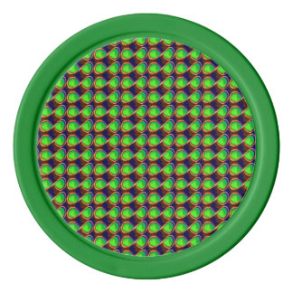 粘土のポーカー用のチップの輝きの緑の無限記号 ポーカーチップセット