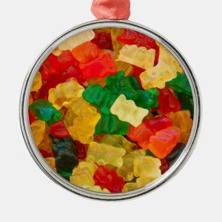 粘着性くまの虹によって着色されるキャンデー メタルオーナメント