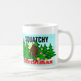 粘着性Squatchyのおもしろいなクリスマスビッグフット コーヒーマグカップ