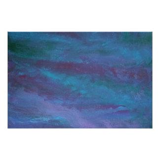 精力的なアートワーク|の青い紫色のティール(緑がかった色)のターコイズ フォトプリント