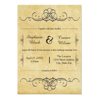 精巧で旧式なデザイン-結婚式招待状 カード