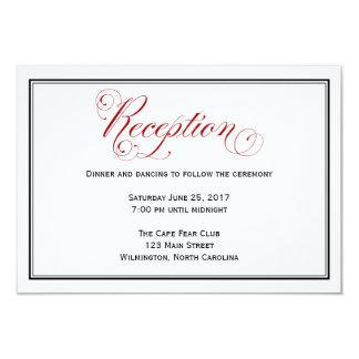 精巧で赤い結婚披露宴の明細カード 8.9 X 12.7 インビテーションカード