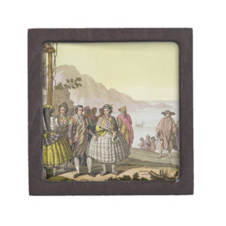 精巧な衣裳、「Lからのチリの人そして女性、 ギフトボックス