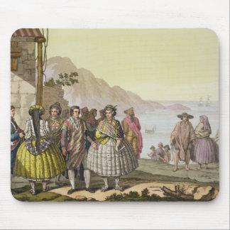 精巧な衣裳、「Lからのチリの人そして女性、 マウスパッド