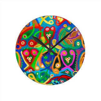精液のダンス-官能的な芸術家の想像 ラウンド壁時計