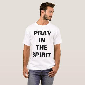 """""""精神で""""の人のTシャツ祈って下さい Tシャツ"""