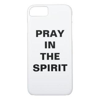"""""""精神で""""のAppleのiPhoneを8/7の場合祈って下さい iPhone 8/7ケース"""