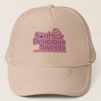 精神のおいしい菓子の白いトラック運転手の帽子 キャップ
