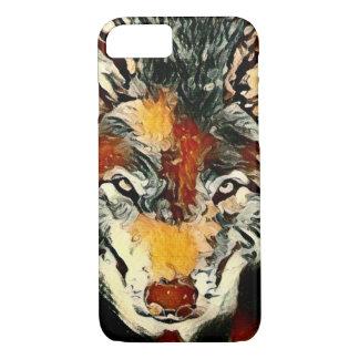 精神のオオカミのペンキの野性生物の芸術のAppleのiPhone 7の場合 iPhone 8/7ケース