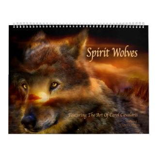 精神のオオカミの芸術のカレンダー カレンダー