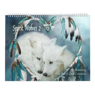 精神のオオカミ2の芸術のカレンダー カレンダー