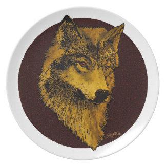 精神のオオカミ プレート