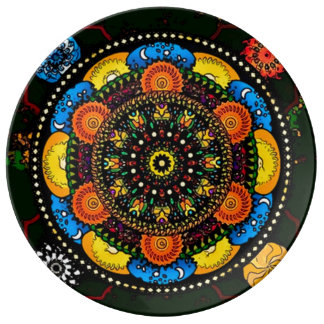 精神のバランスの曼荼羅 磁器製 皿