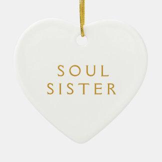 精神の姉妹のためのオーナメントのギフト セラミックオーナメント