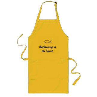 精神の引用のIchthysのエプロンでバーベキューで料理すること ロングエプロン