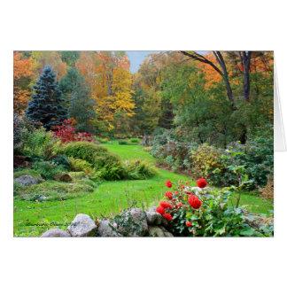 精神の色: ニューハンプシャーの庭 カード