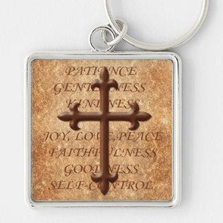 精神の鉄の十字Keychainのキリスト教のフルーツ キーホルダー