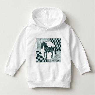 精神の馬のスエットシャツ パーカ