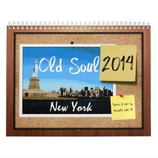 精神の2014年のニューヨークの古いカレンダー カレンダー