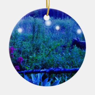 精神は青い夜湿地草原のオーナメントをつけます セラミックオーナメント