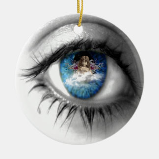 精神への目 セラミックオーナメント