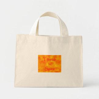 精神バッグのチベット語 ミニトートバッグ