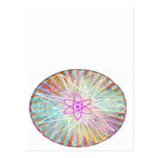精神力: 太陽エネルギーの芸術的なデザイン ポストカード