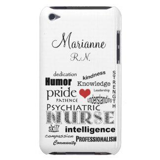 精神医学のナースのプライド+赤いハートはまたは名前を個人化します Case-Mate iPod TOUCH ケース