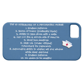 精神医学のナースユーモアの上10の属性 iPhone SE/5/5s ケース