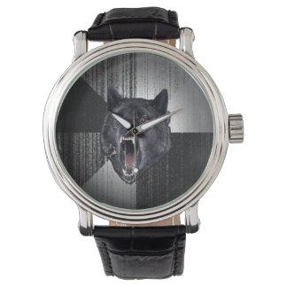 精神異常のオオカミの腕時計 腕時計