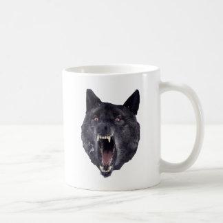精神異常のオオカミ コーヒーマグカップ