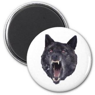 精神異常のオオカミ マグネット