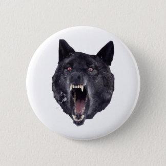 精神異常のオオカミ 5.7CM 丸型バッジ