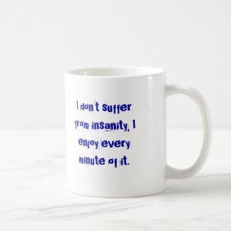 精神異常のマグ コーヒーマグカップ