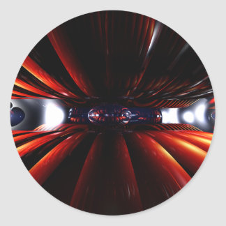 精神異常の抽象芸術のステッカーの端 ラウンドシール