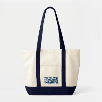 精神異常の申し立てのバッグ-スタイル及び色を選んで下さい トートバッグ