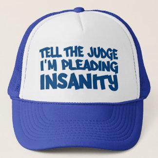 精神異常の申し立ての帽子 キャップ