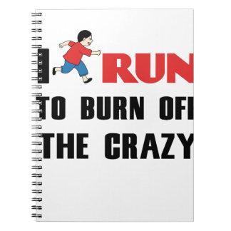 精神異常を燃焼させる走ること ノートブック