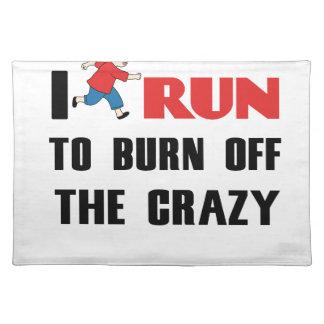 精神異常を燃焼させる走ること ランチョンマット