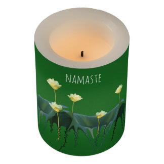 精神的なナマステの庭の白蓮教によってはヨガが開花します LEDキャンドル