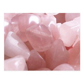 精神的なピンク愛水晶の郵便はがきばら色のクォートの ポストカード