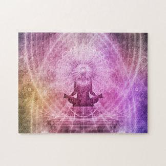 精神的なヨガの黙想の禅のカラフル ジグソーパズル