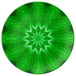 精神的な地球エネルギー曼荼羅の儀式のプレート 磁器プレート