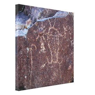 精神的な実体の岩石彫刻 キャンバスプリント