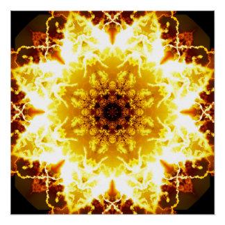 精神的な日光の曼荼羅 ポスター