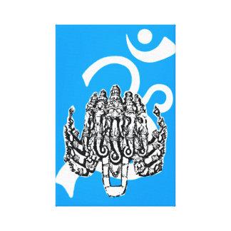 精神的な空のキャンバスのプリントのGanesha キャンバスプリント