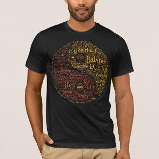 精神的な陰陽の単語の芸術 Tシャツ