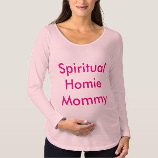 精神的なHomieのお母さんのティー マタニティTシャツ