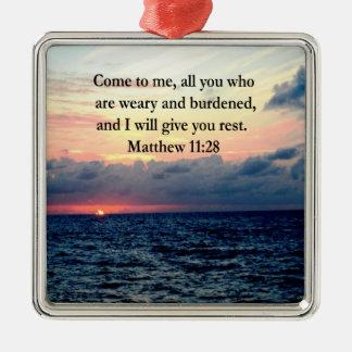 精神的なMATTHEWの11:28の日の出の聖なる書物、経典の写真 メタルオーナメント
